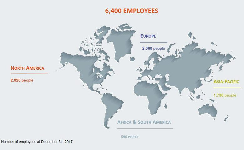 Mersen global footprint