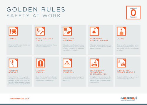 Mersen Safety golden rules