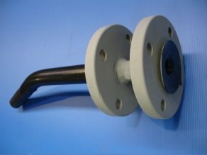Curved dip pipe antistatic PTFE Mersen